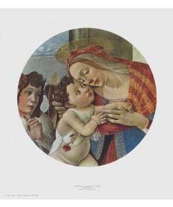 Sandro Botticelli, Madonna (Ausschnitt) (kreisrund)