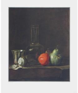 Simeon Chardin, Stilleben mit Glasflasche