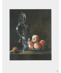 Simeon Chardin, Stilleben mit Zinnkrug (Kupfertiefdruck)