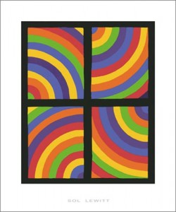 Sol Lewitt, Color Arcs in four Directions, 1999