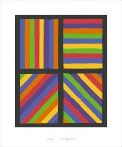 Sol Lewitt, Color Bands in four Directions, 1999