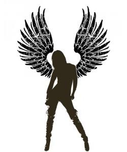 Leinwandbild mit Schattenfugenrahmen schwarz Massimo Saivezzo, Sexy Angel