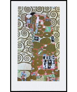 Bild mit Rahmen, Gustav Klimt, Erfüllung - groß, Holz schwarz , Plexiglas