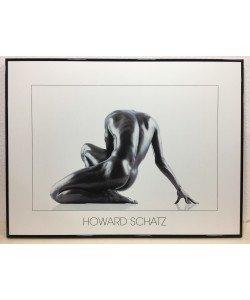 Bild mit Rahmen, Howard Schatz, Nude, Aluminium schwarz glänzend, Folie