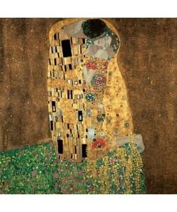 Leinwandbild, Gustav Klimt, Der Kuss
