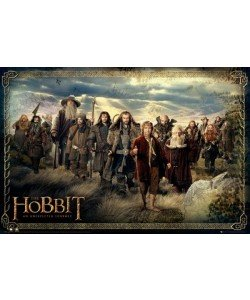Leinwandbild, Unbekannt, The Hobbit-Cast