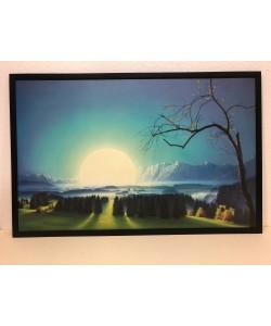 Bild mit Rahmen, Hans-Werner Sahm, Lichtung, Holz schwarz, 20 mm, Folie