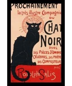 Leinwandbild, Théophile-Alexandre Steinlen, Le Chat Noir, Schattenfugenrahmen schwarz