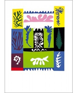 Bild mit Rahmen, Henri Matisse, Amphitrite, 1947 (Büttenpapier), Holz 34 mm, schwarz , Plexiglas