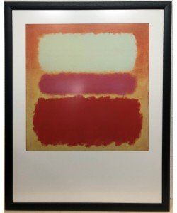 Bild mit Rahmen, Mark Rothko, White Cloud over Purple, Holz 34 mm, schwarz , Antireflex Plexiglas