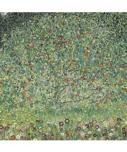 Bild mit Rahmen, Gustav Klimt, Apfelbaum I. 1912, Sonderleiste Holz schwarz, 20 mm, Folie