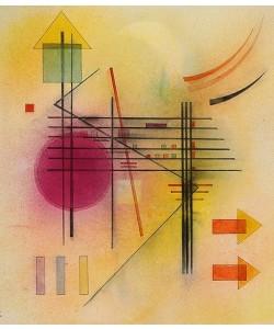 Leinwandbild Wassily Kandinsky, Vibrierend. 1928