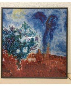 gerahmtes Bild Aluminium Marc Chagall, Die liebenden über st Paul, 1970/71