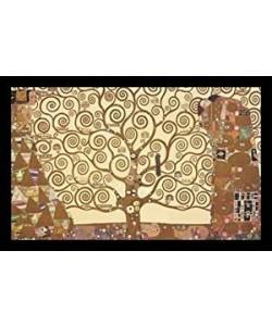 Gerahmtes Bild Holz schwarz, Plexiglas normal Gustav Klimt - Der Lebensbaum
