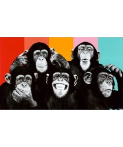 Leinwandbild Unbekannt - The Chimp Compilation Pop Art