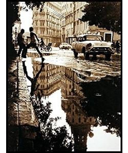 Gerahmtes Bild, Aluminium schwarz glänzend, Folie, Barbara Dombrowski, Havanna I