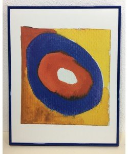Gerahmtes Bild, Aluminium blau, Folie, Wassily Kandinsky, Colour Studies