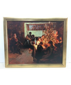 Gerahmtes Bild, Holz gold, Folie, Tayler Albert Chevallier, Christmas Tree