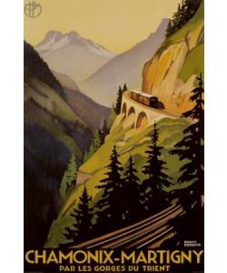 Leinwandbild, letztes Exemplar, Roger Broders, Roger Broders, Chamonix-Martigny