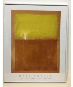 Gerahmtes Bild, Aluminium weiß, Plexiglas normal, Mark Rothko, Orange and Yellow, 1956