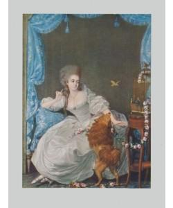 Thomas Gainsborough, Dame mit Hund und Vogelkäfig