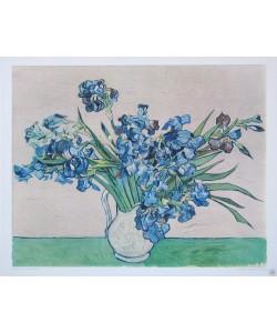 Vincent van Gogh, Irisstrauß (Kupfertiefdruck)