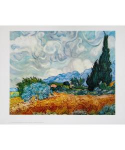 Vincent van Gogh, Kornfeld mit Zypressen