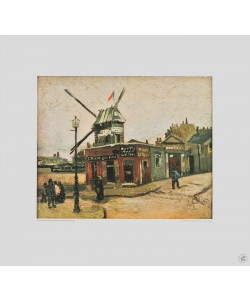 Vincent van Gogh, Moulin de la Galette (Kupfertiefdruck)