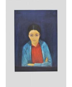 Walter Gramatté, Portrait von Vava, der Gattin Chagalls