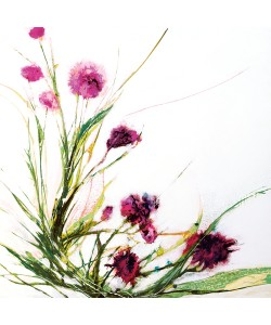 Jan Griggs, Flowers in the Wind on White