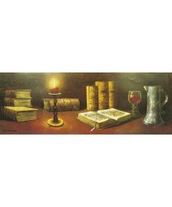 Walter Hohenegg, STILL LIFE WITH BOOKS