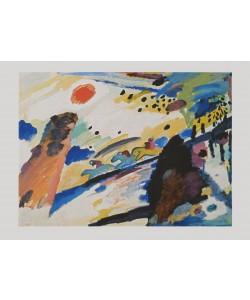 Wassily Kandinsky, Romantische Landschaft, 1911 (Granolitho-Druck)