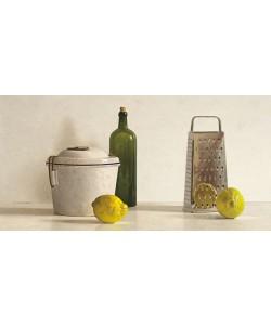 Willem de Bont, Two Lemons, Rasp, Bottle and Pot