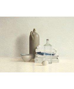 Willem de Bont, Jar, Bottle, Egg, Bowl and Cloths