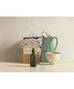Willem de Bont, Two Boxes, Cloths, Bottle, Jug and Bowl