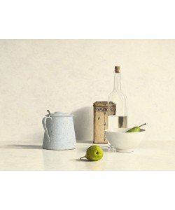 Willem de Bont, Two Pears, Bottle, Can and Jug