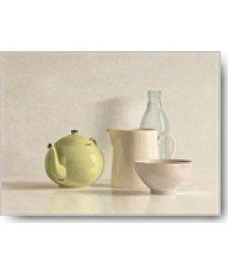 Willem de Bont, Yellow Teapot, Bottle, Bowl and Jug
