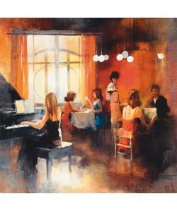 Leinwandbild, Willem Haenraets, Rendez-vous I, Seitenflächen weiß