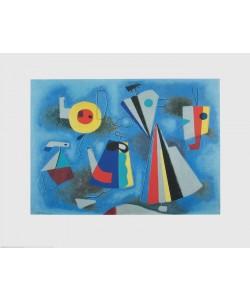 Willi Baumeister, Formen auf blauem Grund